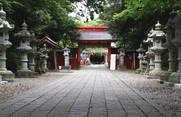 息栖神社の参道