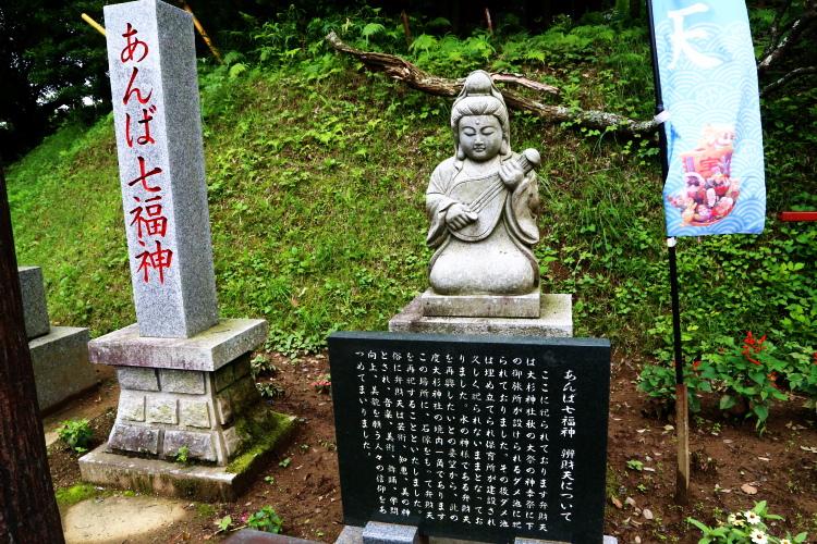 あんば七福神の石像