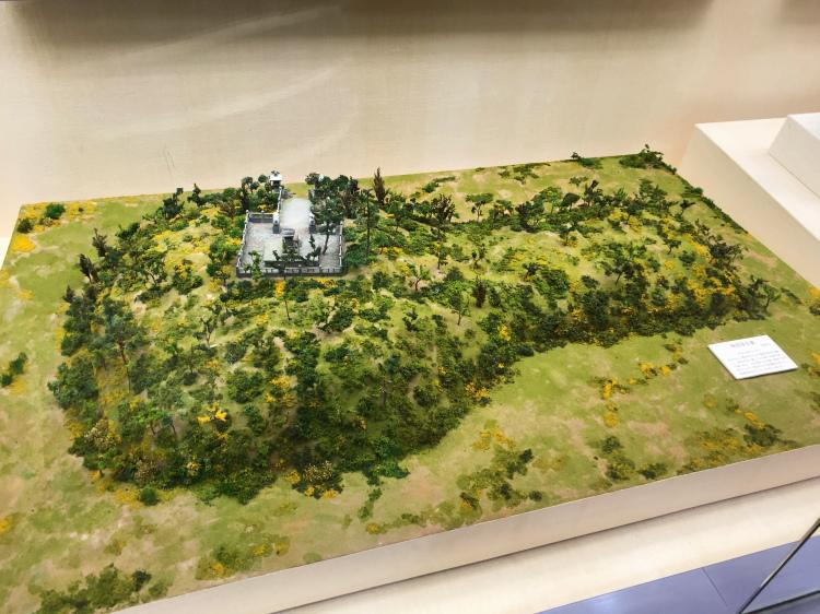 神栖市日川地区にある権現塚古墳の模型