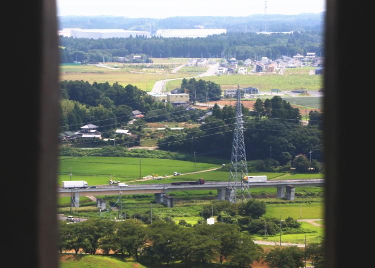 牛久大仏の展望台からの眺め