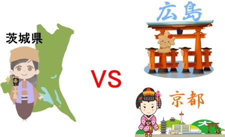 茨城県VS広島・京都