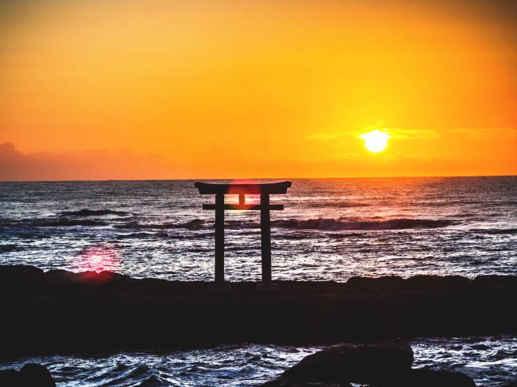 大洗磯前神社の日の出