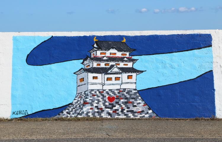 1000人画廊に描かれた名古屋城