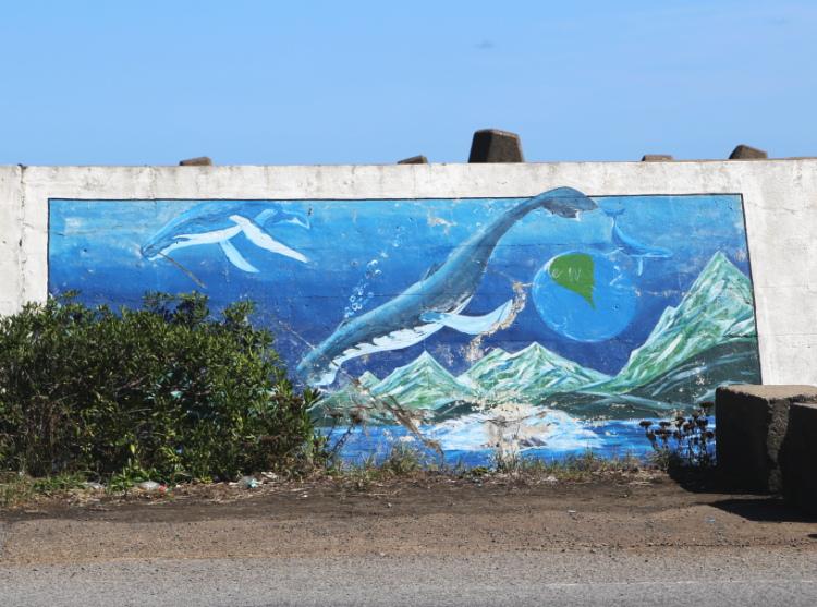 クジラや宇宙や地球をモチーフにした作品