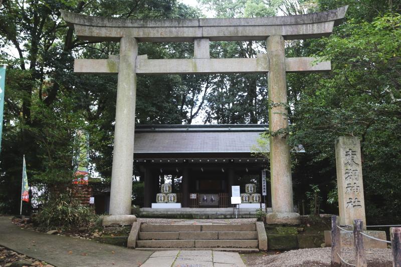 常盤神社の摂社である東湖神社