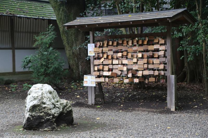 三木神社のとなりにある絵馬掛け