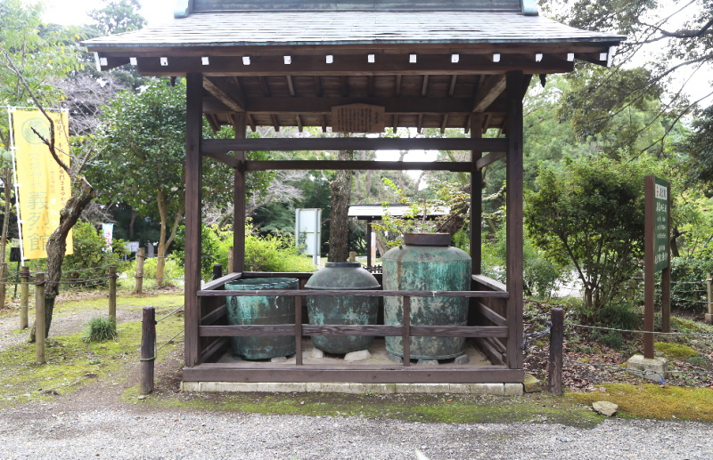 水戸城址から発掘された火薬壺