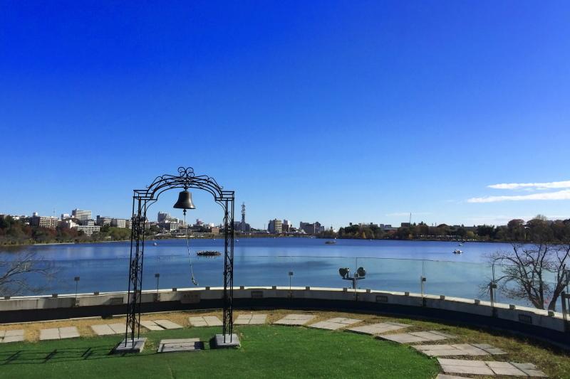 千波公園から眺める湖