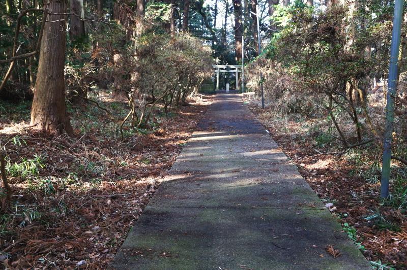 鉾田市・厳島神社の表参道