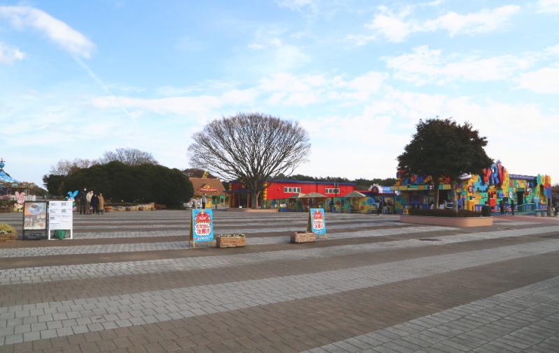 ひたち海浜公園の中央ゲート付近