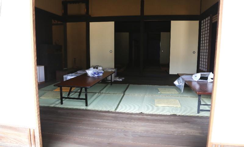 ジュウニジョウと呼ばれる診察室として使われた部屋
