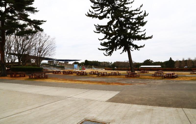 常陸海浜公園の西口・翼のゲート付近