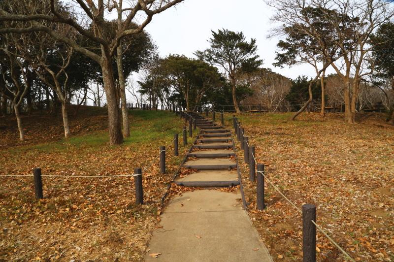 休憩所に上がっていく階段