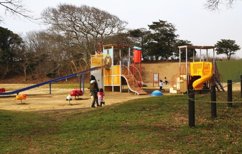 公園内の複合遊具
