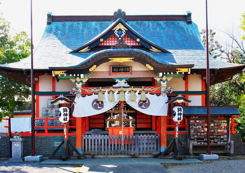 鉾田市の鉾神社の社殿