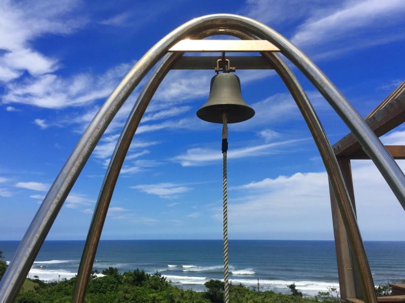 鹿島灘海浜公園の展望築山の上にある鐘